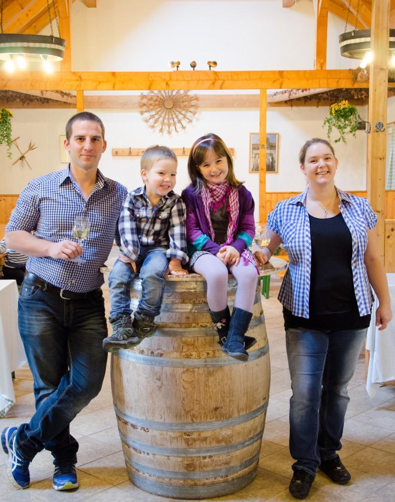Familie jung - Weinbau Beranek